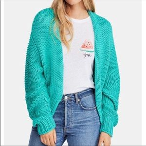 Free People Glow For It Cardigan in Oasis